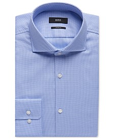 BOSS Men's Sharp-Fit Cotton Oxford Dress Shirt