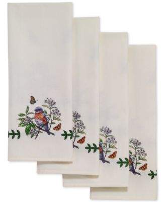 Botanic Birds 4-Pc. Napkin Set