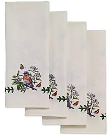 Botanic Birds 4-Pc. Napkin Set