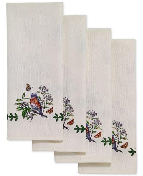 Portmeirion Botanic Birds 4 Pc Napkin Set Amp Reviews
