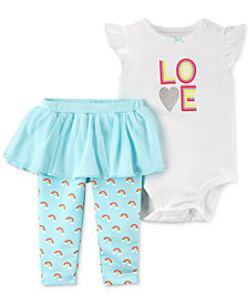 Carter's 2-Pc. Love Bodysuit & Tutu Pants Set, Baby Girls