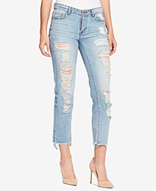 WILLIAM RAST Cotton Ripped Boyfriend Jeans