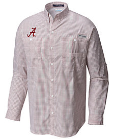 Columbia Men's Alabama Crimson Tide Super Tamiami Long Sleeve Shirt