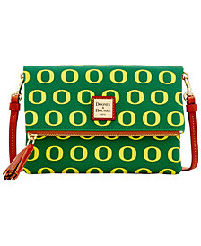 Dooney & Bourke Oregon Ducks Foldover Crossbody Purse
