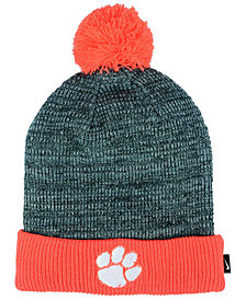 Nike Clemson Tigers Heather Pom Knit Hat