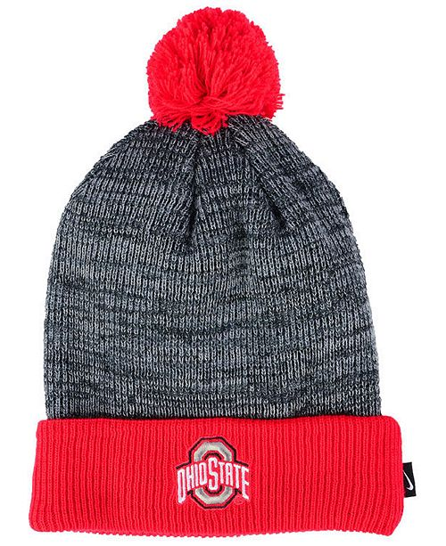 c05ef4f329262d Nike Ohio State Buckeyes Heather Pom Knit Hat & Reviews - Sports Fan ...