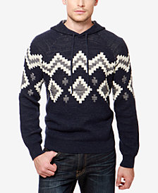 Lucky Brand Men's Intarsia Hooded Sweater