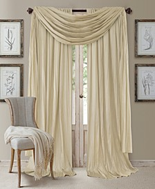 """Athena Rod Pocket 52"""" x 84"""" Pair of Curtain Panels with Scarf Valance, Set of 3"""