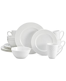 Trellis White 16-Pc. Dinnerware Set, Service For 4