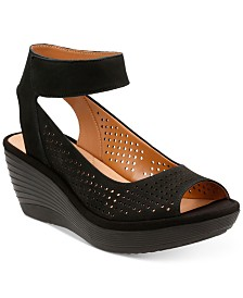 Clarks Collection Women's Reedly Salene Wedge Sandals