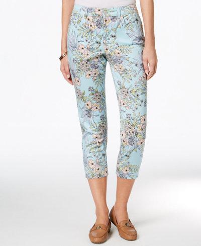 Charter Club Petite Printed Capri Pants, Created for Macy's