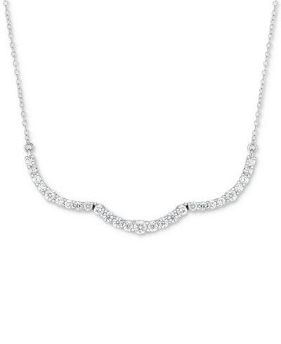 Diamond Scallop Statement Necklace (1 ct. t.w.) in 14k White Gold