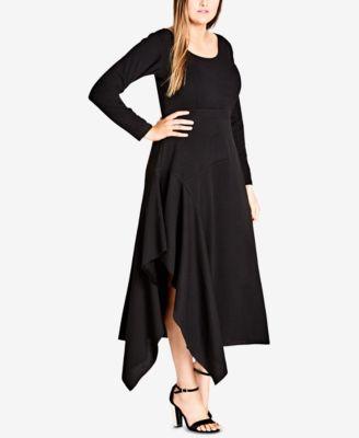 long sleeve plus size dresses - macy's