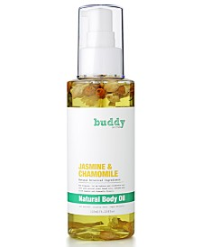 buddy scrub Jasmine & Chamomile Natural Body Oil, 4.23 fl. oz.