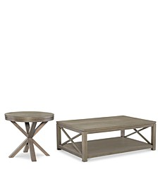 Highline Occasional Table Furniture, 2-Pc. Set (Coffee Table & Round End Table)