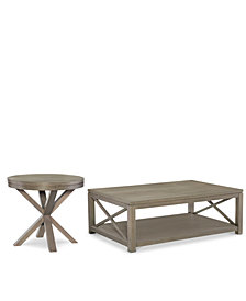 Rachael Ray Highline Occasional Table Furniture, 2-Pc. Set (Coffee Table & Round End Table)