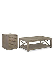 Rachael Ray Highline Occasional Table Furniture, 2-Pc. Set (Coffee Table & 4-Drawer End Table)