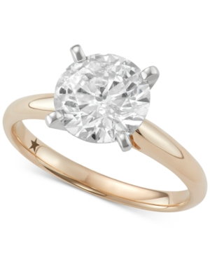 Solitaire Engagement Ring (2 ct. t.w.) in 14k White or Yellow Gold
