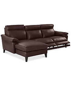 Brown Leather Sectional Sofas & Couches - Macy\'s