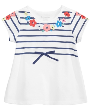 First Impressions GraphicPrint Cotton TShirt Baby Girls (024 months) Created for Macys