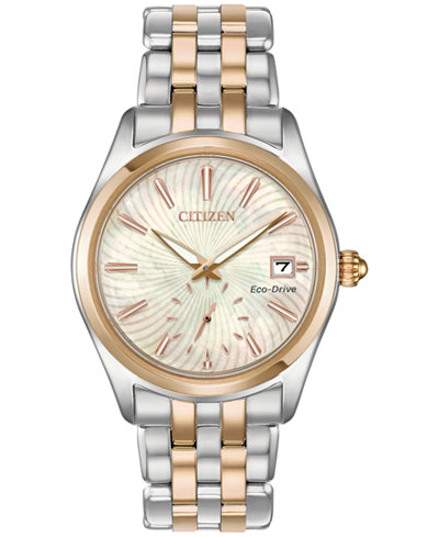 Citizen Eco-Drive Women's Corso Two-Tone Stainless Steel Bracelet Watch 36.2mm, Created for Macy's