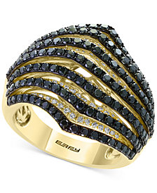 EFFY® Diamond Wavy Multi-Row Ring (2 ct. t.w.) in 14k Gold