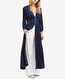 Free People Alexa Printed Maxi Duster Top