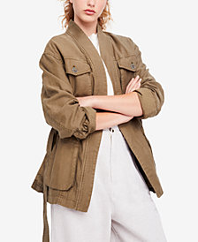 Free People In Our Nature Cotton Utility Jacket