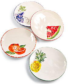 Viva by Vietri Fresh Fruit Assorted Set/4 Salad Plates, Created for Macy's