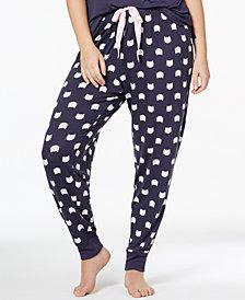 Jenni by Jennifer Moore Plus Size Graphic-Print Pajama Top & Pajama Pants Sleep Separates, Created for Macy's