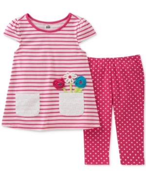 Kids Headquarters 2Pc Tunic and Capri Leggings Set Little Girls (46X)