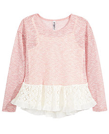 Beautees 2-Pc. Knit Top & Camisole Set, Big Girls