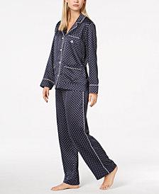 Lauren Ralph Lauren Satin Logo-Pocket Pajama Set