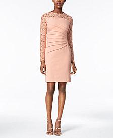 Ivanka Trump Lace-Trim Sheath Dress