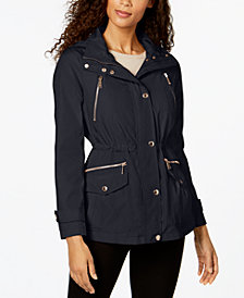 MICHAEL Michael Kors Hooded Zip-Pocket Anorak