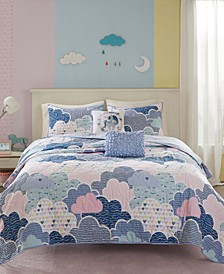 Cloud 5-Pc. Printed Coverlet Set
