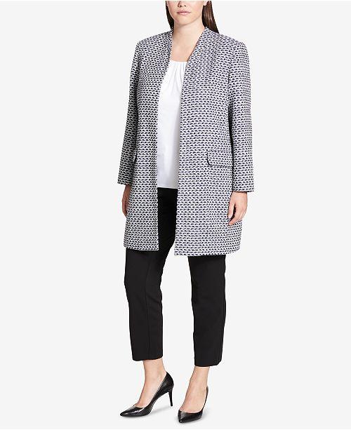 97ab792e1e3c2 Calvin Klein Plus Size Metallic Tweed Topper Jacket - Jackets ...