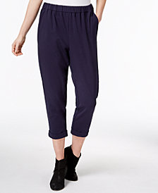 Eileen Fisher Organic Cotton Pull-On Cropped Pants, Regular & Petite