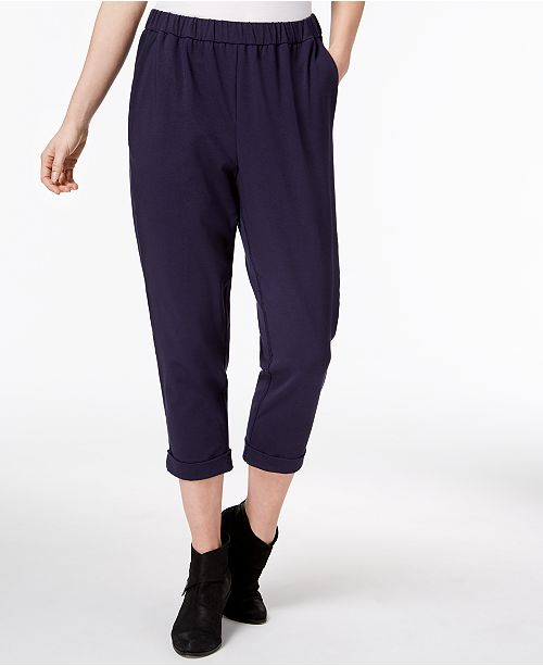 719e8831f0 ... Eileen Fisher Organic Cotton Pull-On Cropped Pants