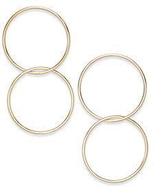 I.N.C. Gold-Tone Double-Hoop Drop Earrings, Created for Macy's