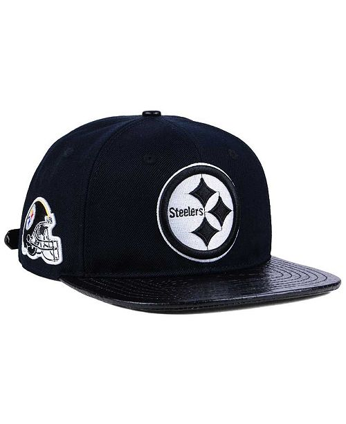 half off ff478 f63a7 Pro Standard. Pittsburgh Steelers Black and White Strapback Cap. Be the  first to Write a Review. main image ...