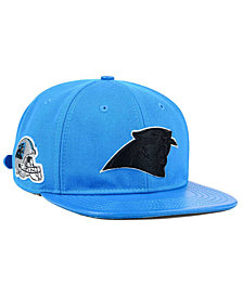 Pro Standard Carolina Panthers Team Color Black Strapback Cap