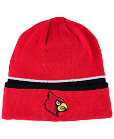 adidas Louisville Cardinals Coach Cuffed Knit Hat