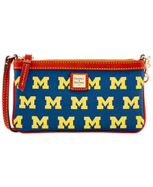 Dooney & Bourke Michigan Wolverines Large Wristlet
