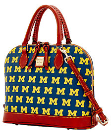 Dooney & Bourke Michigan Wolverines Zip Zip Satchel
