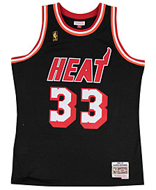 Mitchell & Ness Men's Alonzo Mourning Miami Heat Hardwood Classic Swingman Jersey