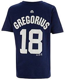 Majestic Didi Gregorius New York Yankees Official Player T-Shirt, Big Boys (8-20)