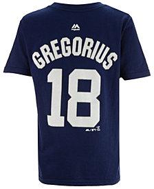 Majestic Didi Gregorius New York Yankees Official Player T-Shirt, Big Boys (8-20)