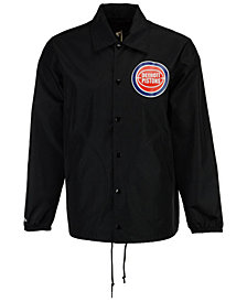 Mitchell & Ness Men's Detroit Pistons Coaches Jacket