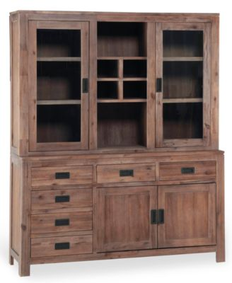 Champagne China Cabinet, Created for Macy's - Furniture - Macy's